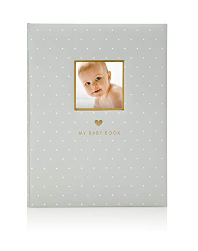 (Little Blossoms by Pearhead Little Blossoms Sweet Welcome Keepsake Baby Memory Book, Gray)