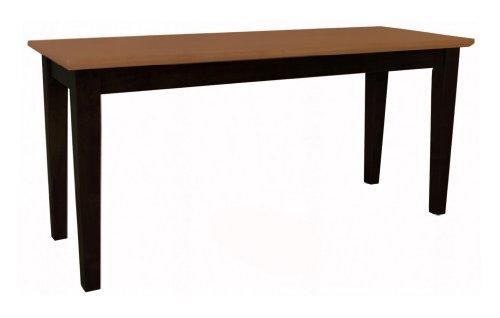 International Concepts BE57-39 Shaker Styled Bench RTA, Black/Cherry