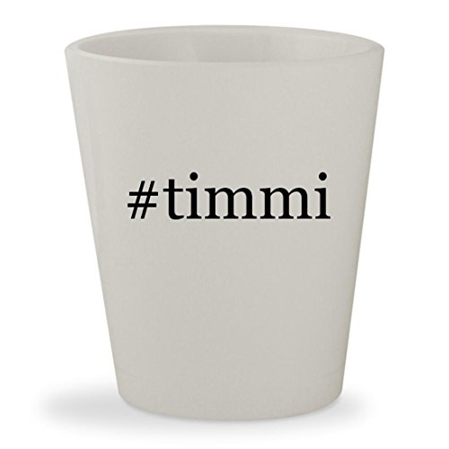 #timmi - White Hashtag Ceramic 1.5oz Shot Glass