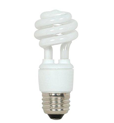 (Satco S5504 9 Watt T2 Mini Spiral Compact Fluorescent, Warm White, 2700K, 82 CRI, Medium base (Pack of 12))