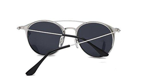 du lunettes style polarisées soleil de Un rond inspirées vintage retro en cercle métallique Lennon xanqaIXrw