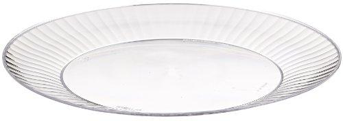 Prestige Rigid Plastic Round Plate, 10.25-Inch Diameter, Clear (120-Count)