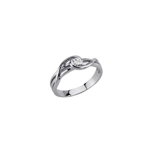 Bijoux pour tous - 150126911000 - Bague Femme - Argent 925/1000 Rhodié 2.7 gr - Oxyde Blanc