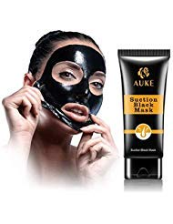 AUKE Blackhead Remover Mask, Blackhead Peel Off Mask, Black Mask, Charcoal Deep Cleaning Facial Mask for Face Nose Acne Pores Treatment ()