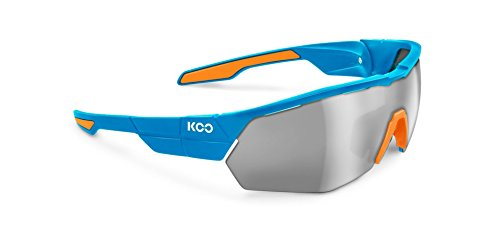 Kask P0329358 Koo Open Cube Cycling Sunglasses, Light Blue/Orange, Medium