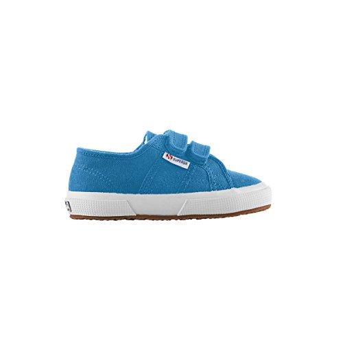 Superga Cobinvj - Zapatillas de lona para niños Blue Caribe