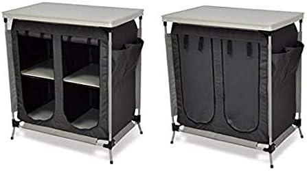 Mueble armario de 2 estantes con superficie de apoyo de MDF ...