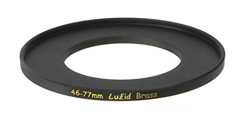 LUŽID X2 Brass 46mm to 77mm Step Up Filter Ring Adapter 46 77 Luzid