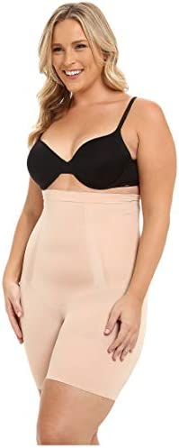 SPANX Women's Plus Size Oncore High-Waisted Tummy Control Mid-Thigh Short