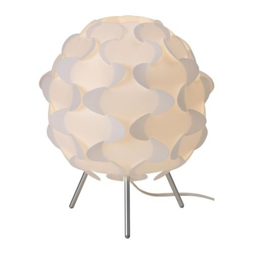 IKEA White Spherical Lamp with Aluminium Legs