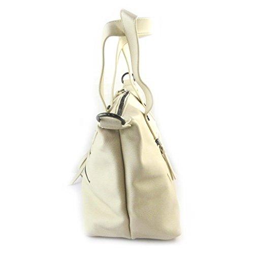 french touch tasche Lulu Castagnetteelfenbein beige - 27.5x24x13.5 cm. D1rRkU