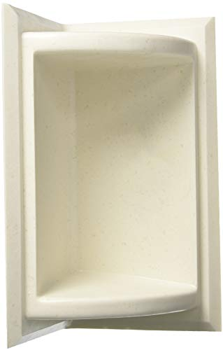 - Swanstone SS07211.168 Solid Surface Corner Shower Soap Dish, 5.75