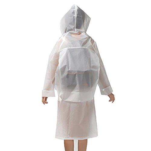 Tribangke - Abrigo impermeable - para mujer blanco