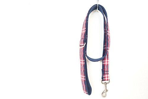 PENIVO Nylon Lattice Style Puppy Dog Collar Leash, Red Pet Collar Lead for Small Medium Dogspy Collars, 5 Size,Matching…