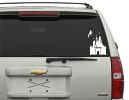 (Castle Home Tinkerbell Vinyl Decal Car Sticker in White)