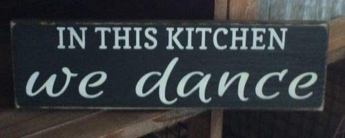 123RoyWarner Handmade Hanging Wood Sign in This Kitchen We Dance Bakery Farmhouse Home Decor