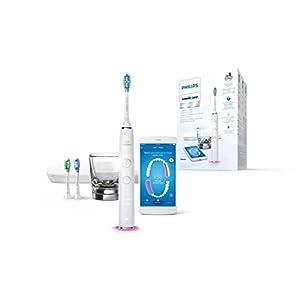 Philips Sonicare HX9903/03 DiamondClean Smart, Spazzolino Elettrico con Tecnologia Sonicare, Connesso all'Applicazione, 4 Programmi di Pulizia, Bianco 7
