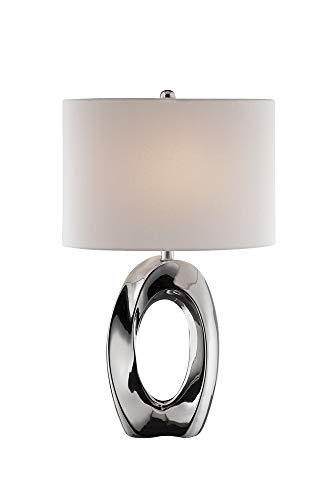 - Lite Source Clover Chrome Ceramic Table Lamp