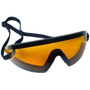Bobster Eyewear BW201A, Wrap Around Goggle, Black Frame, Amber Lens