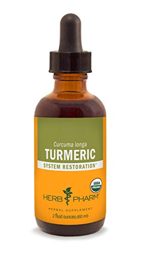 Herb Pharm Certified Organic Turmeric Root Extract for Musculoskeletal System Support - 2 Ounce