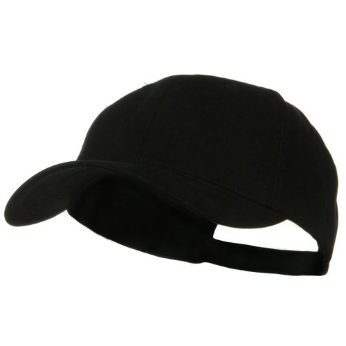 New Big Size Deluxe Cotton Cap - Black (For Big (Oversized Heads)