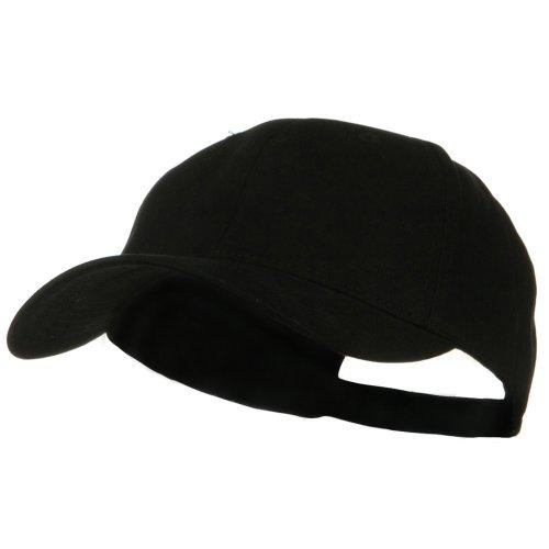 e4Hats.com New Big Size Deluxe Cotton Cap - Black ()