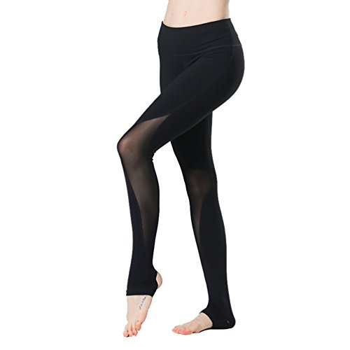 Binhee Femmes Fil Net Couture Fitness Courir Un Yoga Serré Danse Pantalons
