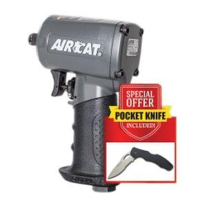 AIRCAT 1055-TH-KP 1/2'' Drive COMPACT Impact Wrench with Stainless Steel Knife, Small, Grey