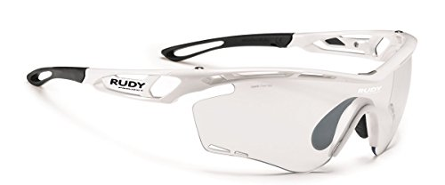 Rudy Project Photochromic - Rudy Project Tralyx White Gloss with Impactx-2 Photochromic Clear to Black Lenses