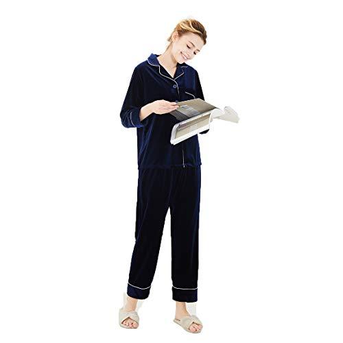Para Size De Piezas Servicio Pijamas A King Conjunto Domicilio Camisón Coral Larga Manga blue xxxl Linlin Blue Mujer Dos Terciopelo Invierno TpXPqZ