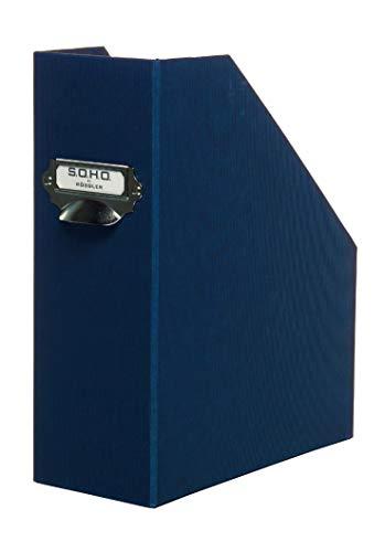 Rössler 1318452871 - Porta revistas con asa, formato A4, color marrón: Amazon.es: Oficina y papelería