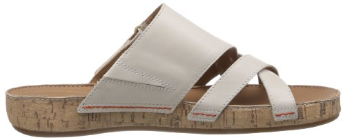 femme Sandales Raspberry Cotton Clarks Cake Leather Blanc qStwPOEOvn