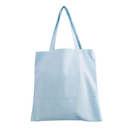 Celeste Bolso Rosa Compra Respetuoso Azul Tamaño HOMYY Ambiente con Hombro Mujer al de para de Reutilizable Color la Medio Lona Lavable sólido Libre el AdngHnqP