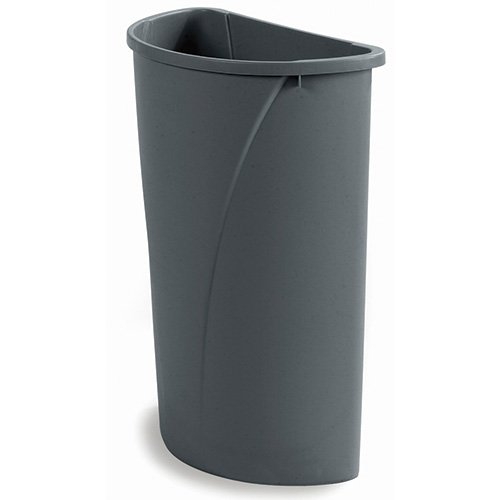 Carlisle 34302123 Centurian Half Round Waste Container Trash Can Only, 21 Gallon, Gray