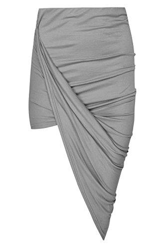 Fashion Gris Jupe Funky Shop Femme Bleu gXadndqPTw
