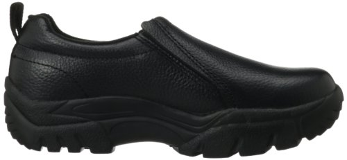 Roper Largo Nero Liscio Bottalato Lether Mens Slip-on Nero Burattato