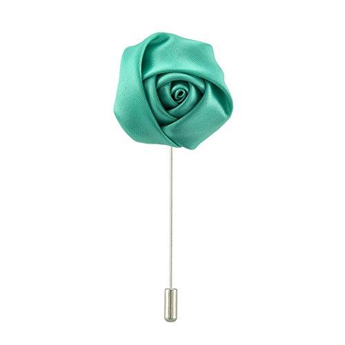 FM FM42 Classic 36mm Rose Flower Lapel Stick Brooch Pin Wedding Suit Tuxedo Corsage (18 Colors)