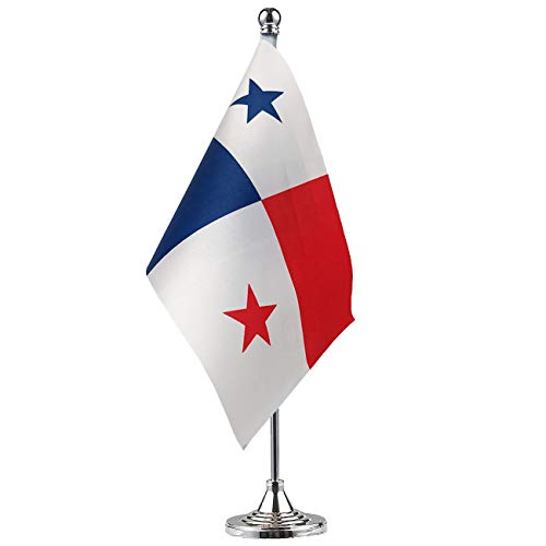 GentleGirl.USA Panama Flag Panamanian Flag Table Flag,Desk Flag,Office Flag,International World Country Flags Banners,Festival Events Celebration,Office Decoration,Desk,Home Decoration