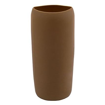 Vidrio resistente eDealMax silicona Home Cafe calor taza de la botella de té manga del protector