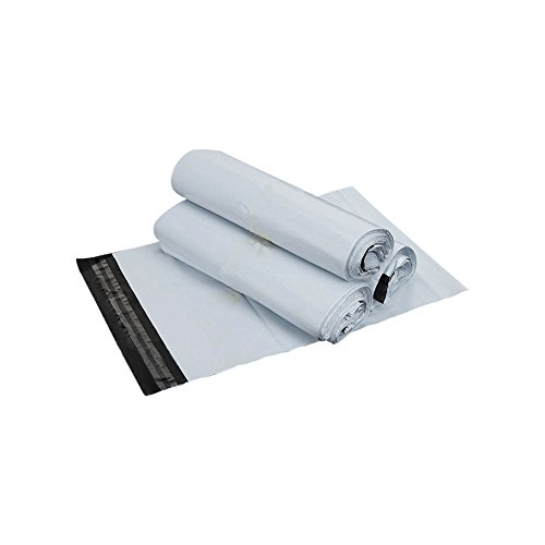 SJPACK 10x13-inch 100 Bags 2.5 Mil Poly Mailers Envelopes Bags With Self-sealing Stripe, White Poly Bags Photo #2