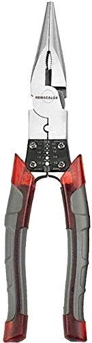 ZWH-ZWH プライヤーハンドツール多機能ワイヤープライヤーストリッパークリンパーカッターニードルノーズニッパージュエリーツール対角線8インチプロフェッショナルツール ペンチ