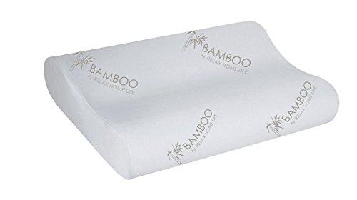 Relax-Home-Life-Cervical-Contour-Memory-Foam-Bamboo-Pillow-Stay-Cool-Removable-Cover-By-Bamboo-By-Queen