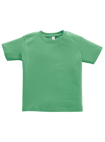 Rabbit Skins 100% Cotton Blank Toddler Football Jersey Tee [Size 5T/6T] Grass Green Short Sleeve (Blank Toddler Shirts)