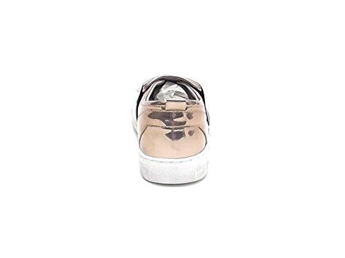 Crime scarpa donna, modello 25173, sneaker in pelle, colore platino