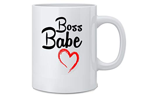 (Boss Babe Mug - Funny Women Employee Novelty Coffee Mug - Great Novelty Gift for Wife, Husband, Mom, Dad, Co-Worker, Boss And Friends )