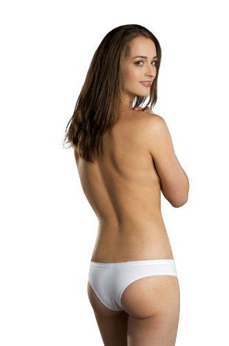 Hering Women's Cotton Low Rise Bikini Style 779Y-WHT-M