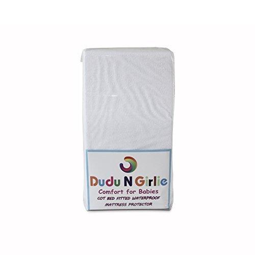 Dudu N Girlie Terry 100 Percent Cotton Cot Bed Mattress Protector, 70 cm x 140 cm Dudu N Girlie Limited B01L005OJA