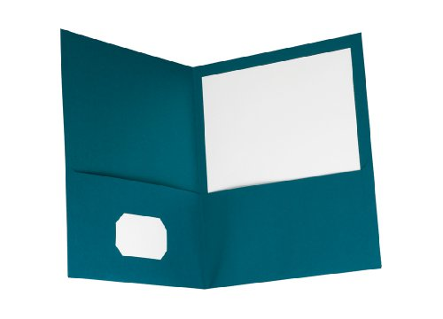 Oxford Twin-Pocket Folders, Teal - Pack of 10 (57582)
