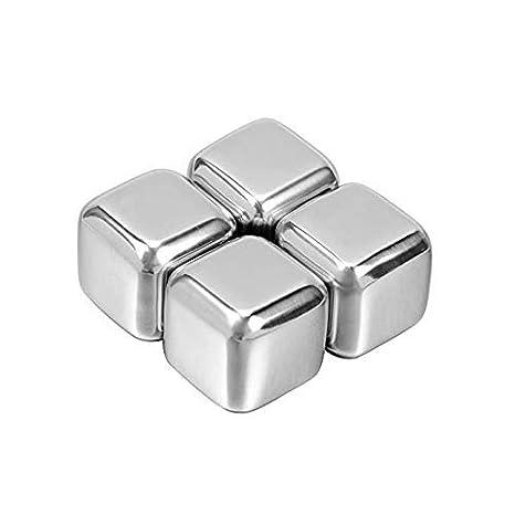 Amazon.com: Cubitos de hielo de acero inoxidable, piedras de ...
