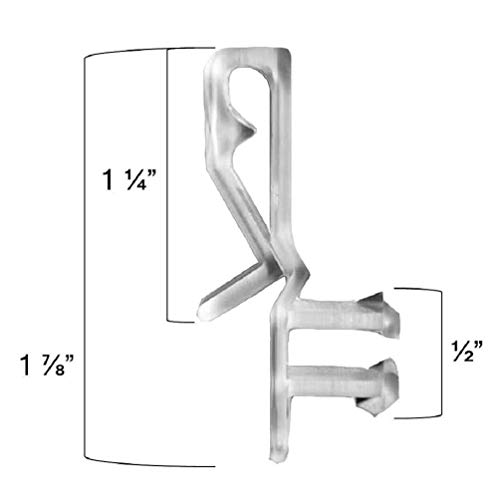 - SIX PAIR Hidden Channel VALANCE CLIPS for 2